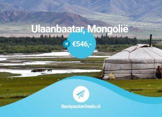 Goedkoop vliegticket naar Mongolië