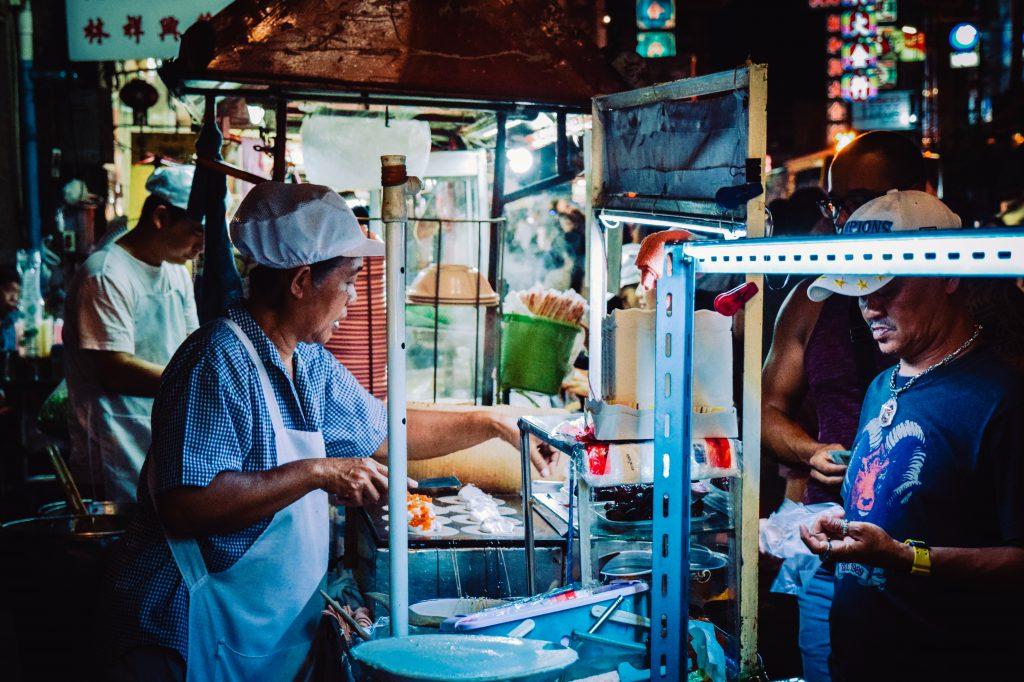 Streetfoodkraampje in Bangkok's Chinatown
